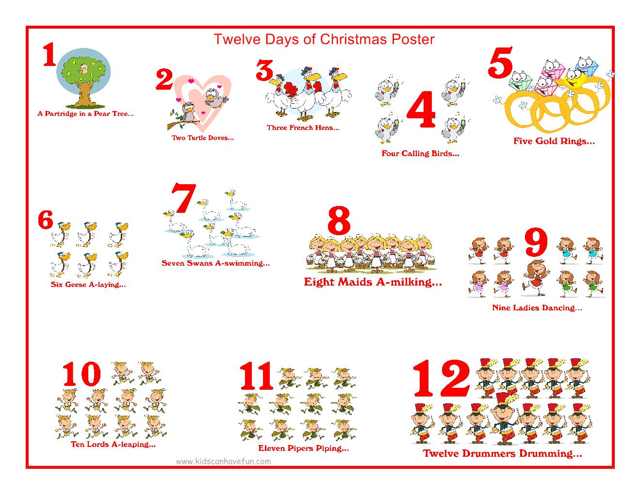 12 Days Of Christmas Hoyland Common Primary School Blogsite