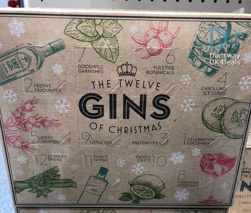 12 Gins Of Christmas Advent Calendar At Bm Dansway Uk Deals