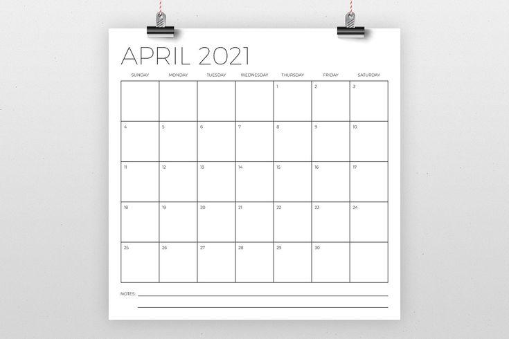 12 X 12 Inch Minimal 2021 Calendar In 2020 Calendar