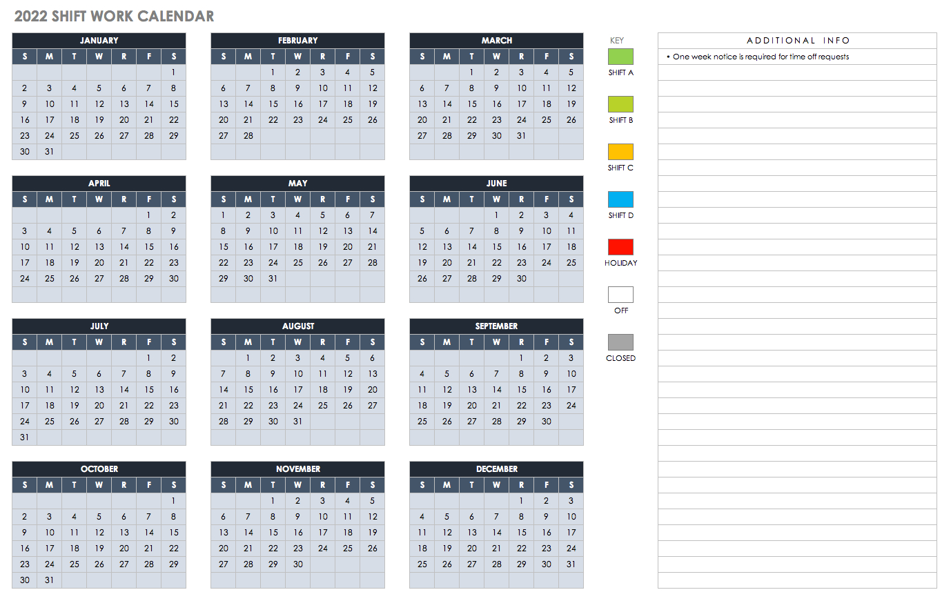 15 Free Monthly Calendar Templates Smartsheet 2