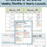 20 Editable 2021 Year 2021 Calendar Printable Free