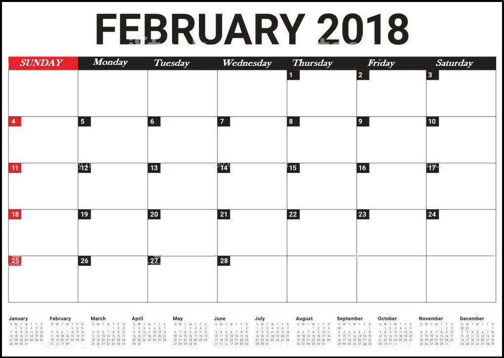 20 Feb 2018 Calendar Free Download Printable Calendar