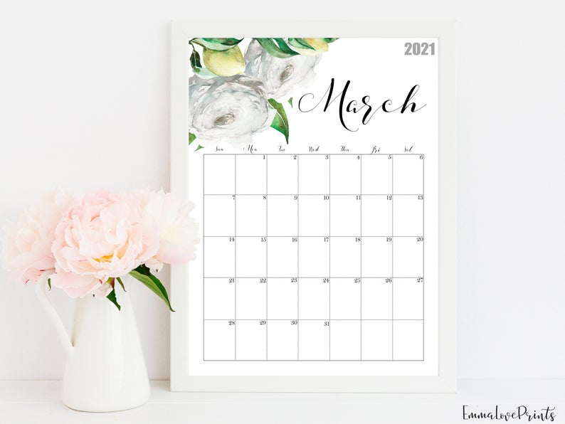 20 Wall Calendar 2021 Design Free Download Printable