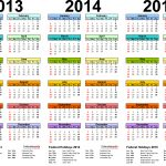 2013 2015 three year calendar free printable word templates