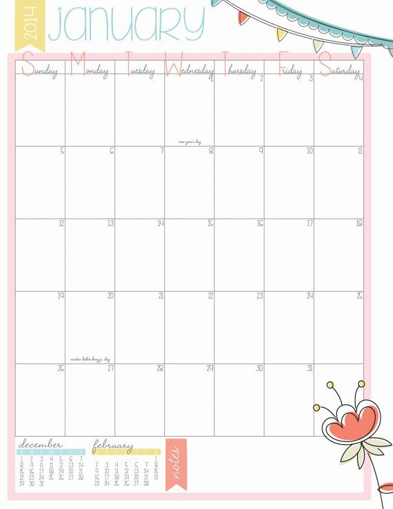 2014 Portrait 8 5x11 Monthly Calendar Need Something