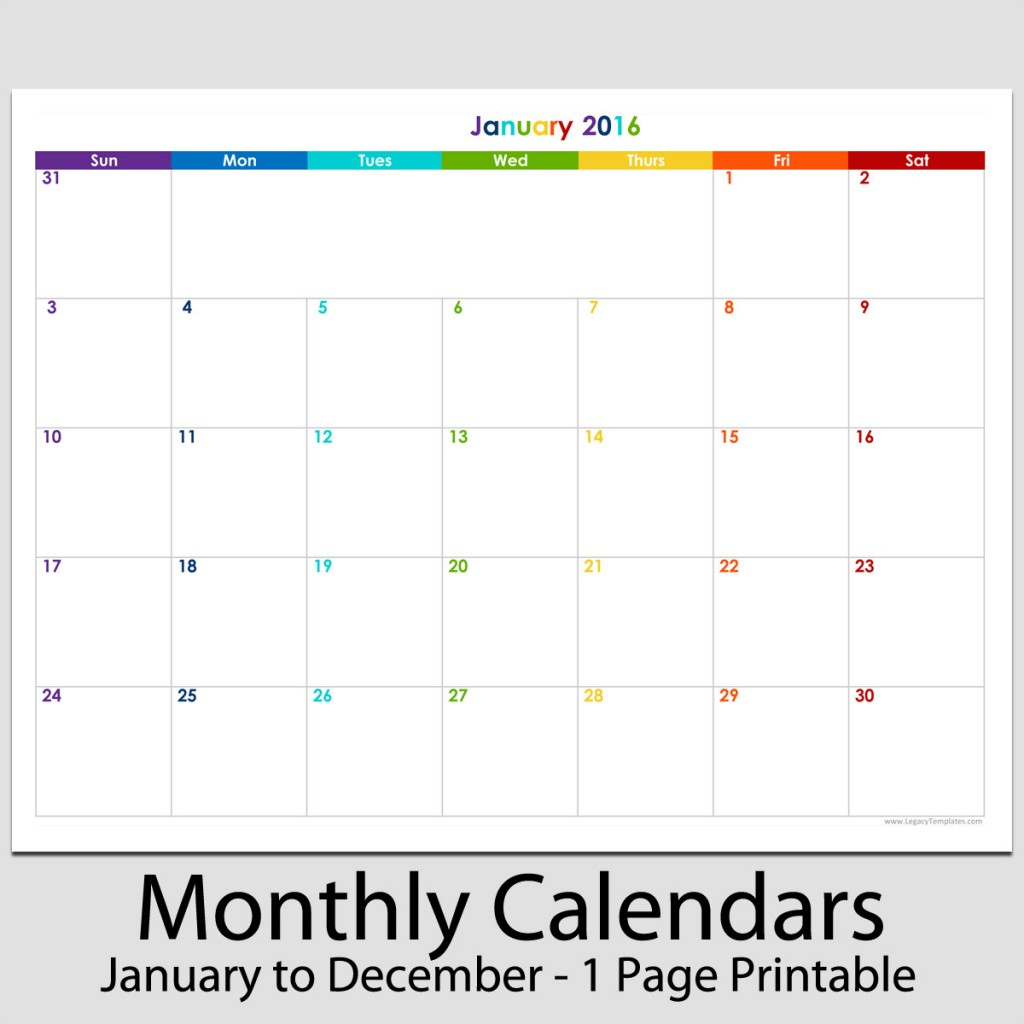 2016 12 Month Landscape Calendar 8 1 2 X 11 Legacy
