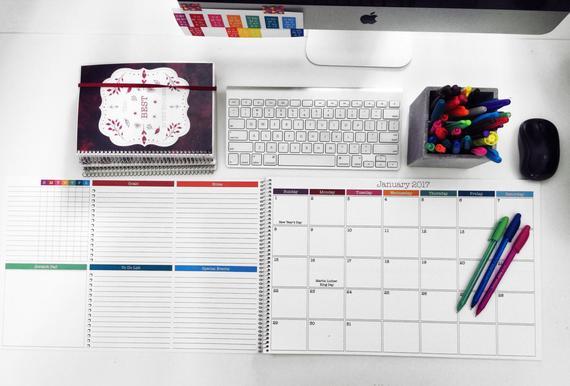 2017 Monthly Desk Calendar 11x17 Large Desk