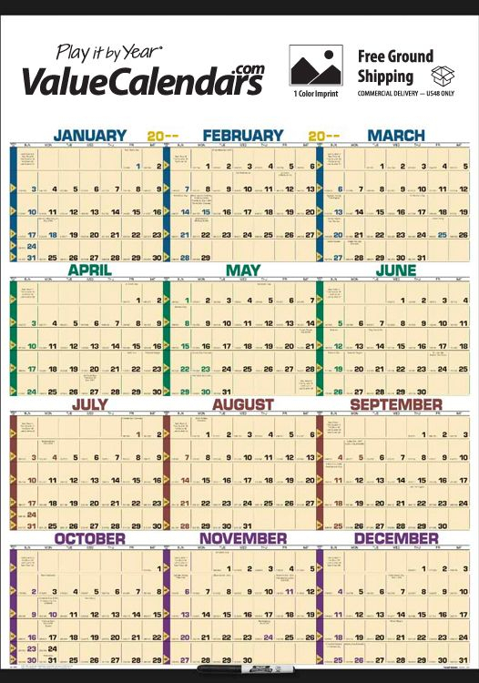 2017 time management span a year laminated calendar 27