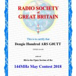 2018 Events At The Dengie Hundred Amateur Radio Society 1