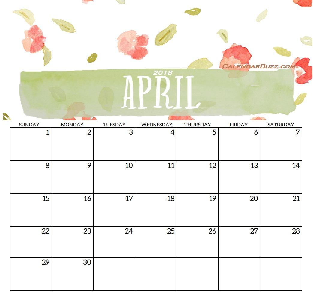 2018 Monthly Printable Templates Latest Calendar 1