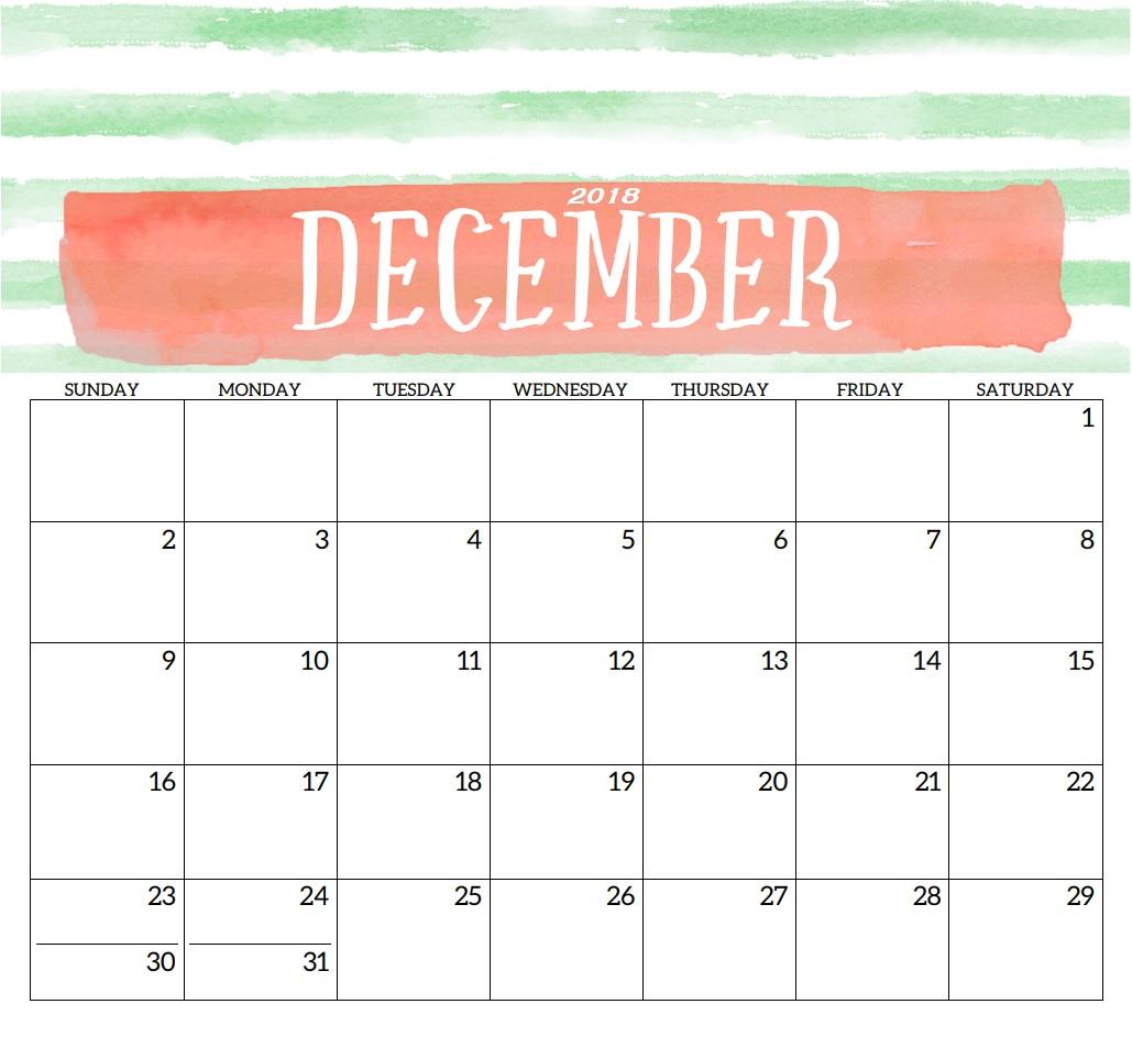 2018 Monthly Printable Templates Latest Calendar