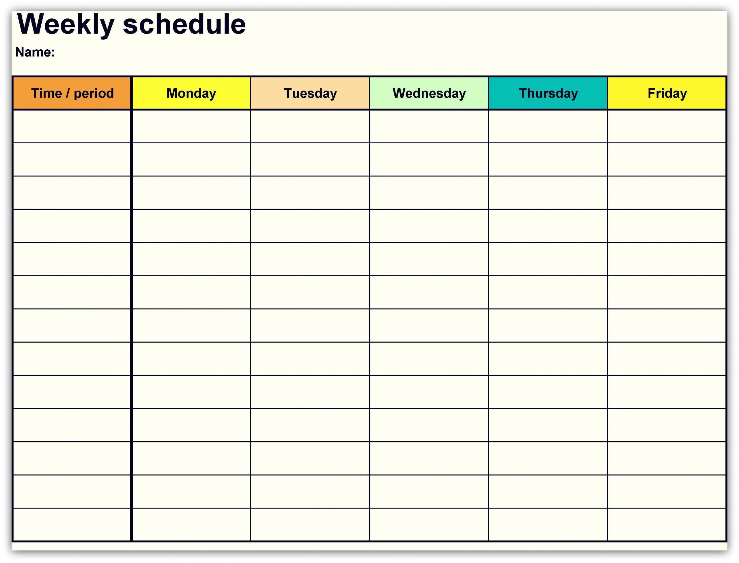 2018 Weekly Planner Calendar Daily Planner Template 1
