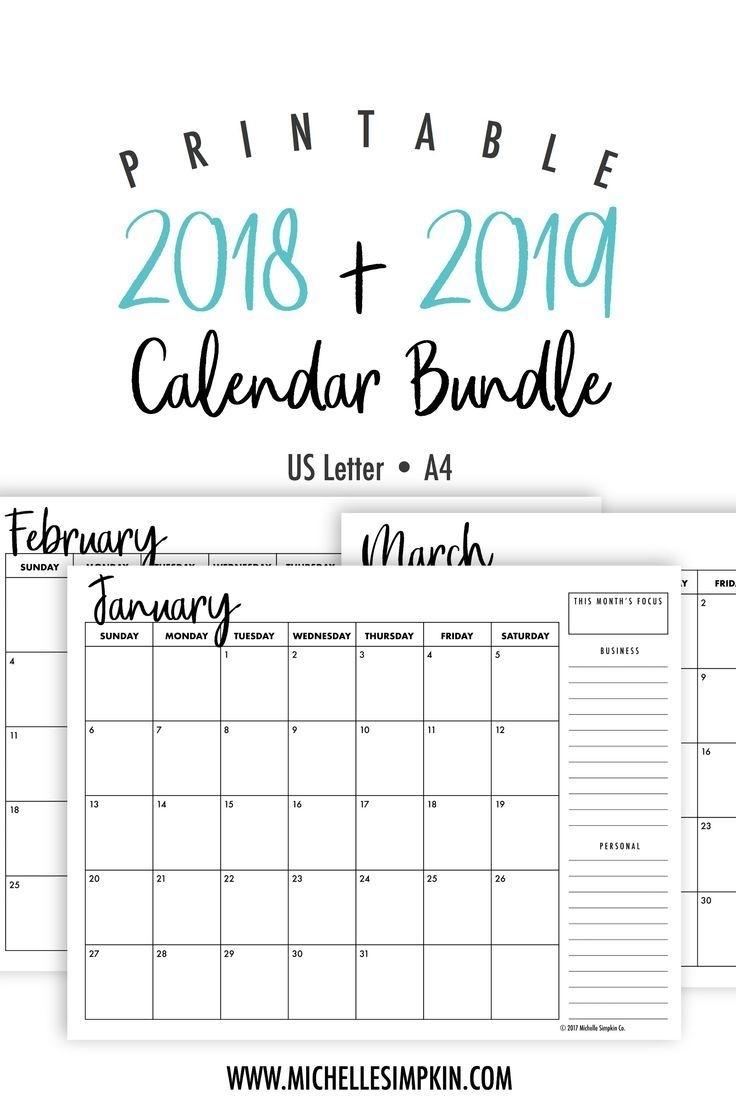 2019 2020 Printable Fill In Calendar Calendar