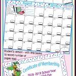 2019 2020 School Year Calendar Editable Free Back To