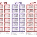 2019 And 2020 And 2021 Calendar Printable Pdf Word Free
