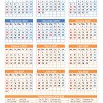 2019 And 2020 School Calendar Printable Portrait