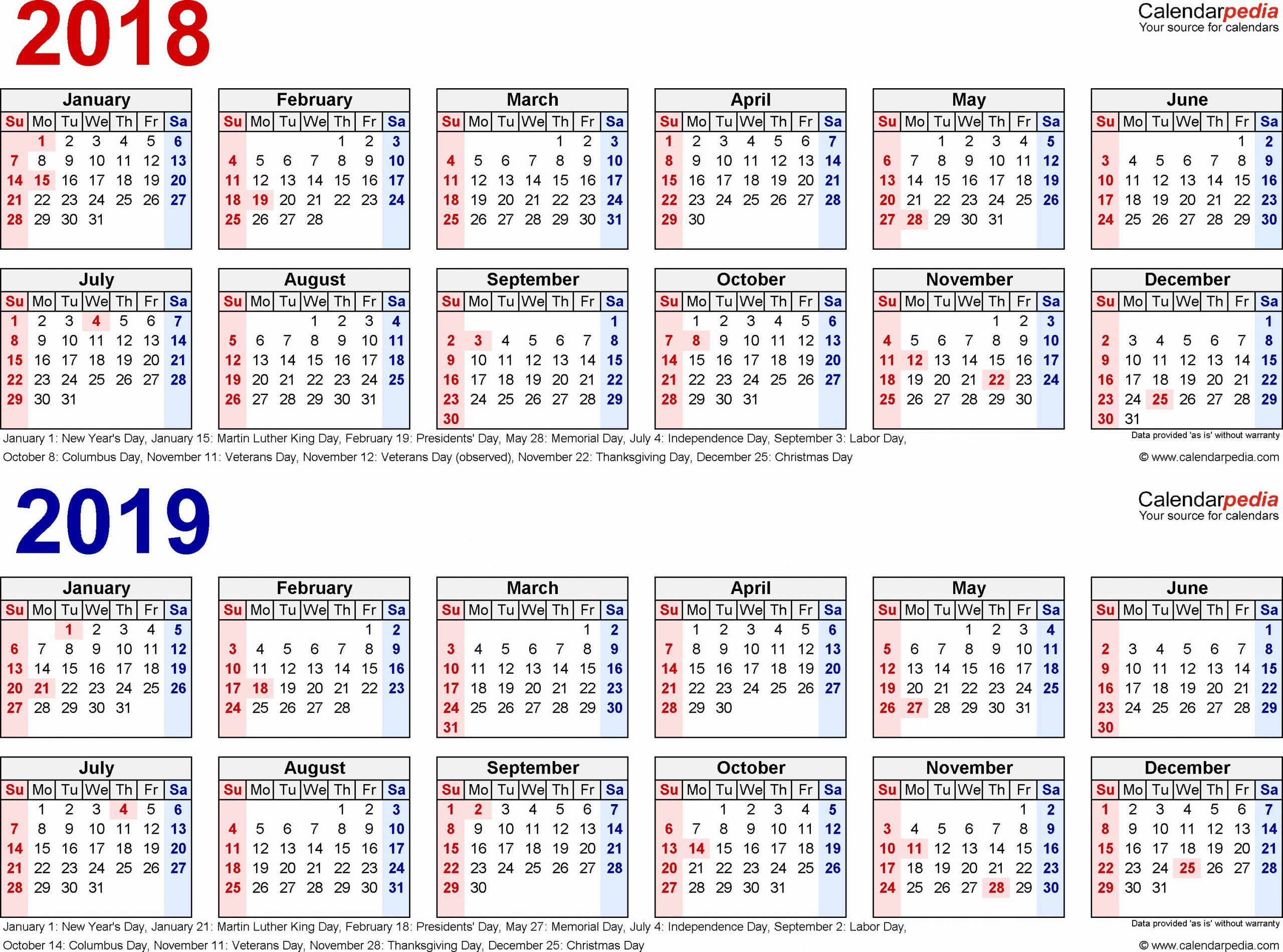2019 Biweekly Payroll Calendar Template Excel Fresh 2018