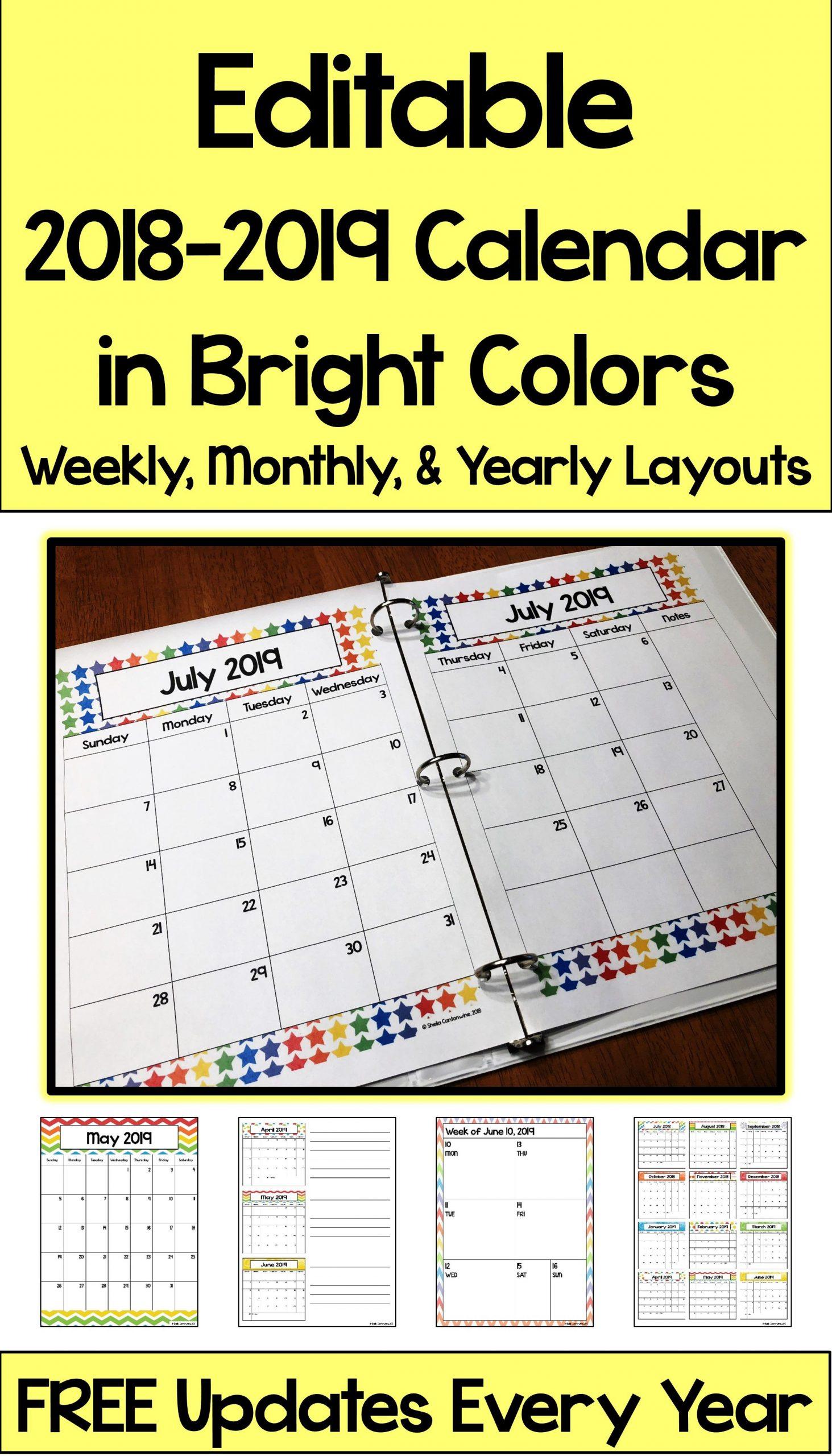 2020 2021 Calendar Printable And Editable With Free 13