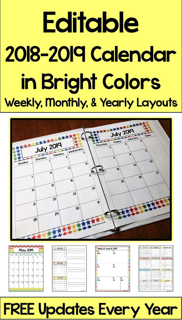 2020 2021 Calendar Printable And Editable With Free 2