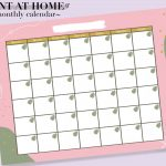2020 2021 Monthly Calendar Digital Download Pdf Printable 1