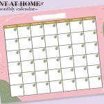 2020 2021 Monthly Calendar Digital Download Pdf Printable 2