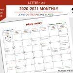 2020 2021 Monthly Calendar People Of The Book Calendar 1