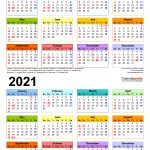 2020 2021 Two Year Calendar Free Printable Word Templates