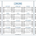 2020 Calendar 2021 Calendar Printable Free