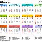 2020 Calendar Free Printable Word Templates