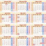 2020 Calendar Uk Printable Year Calendar