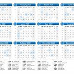 2020 Calendar With Holidays Calendar Printables Free