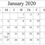 2020 Free Printable Monthly Calendars You Can Edit With