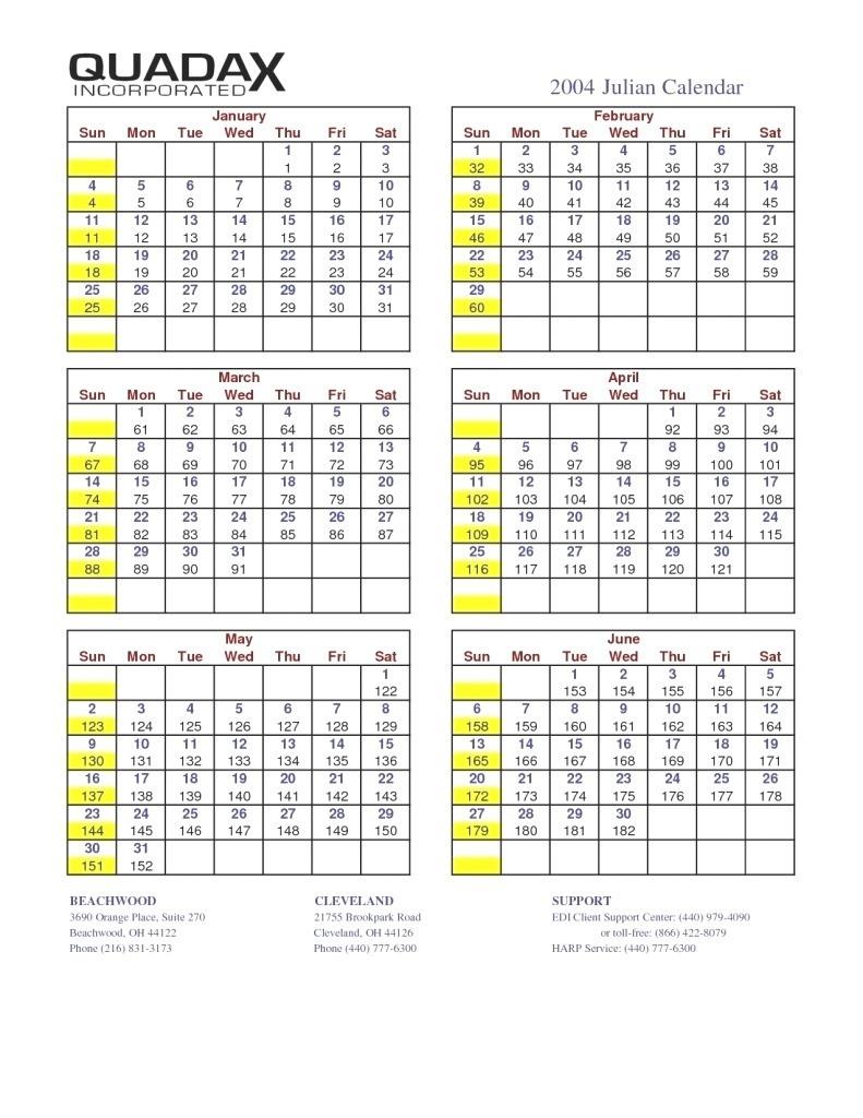 2020 Julian Date Calendar Calendar Image 2020