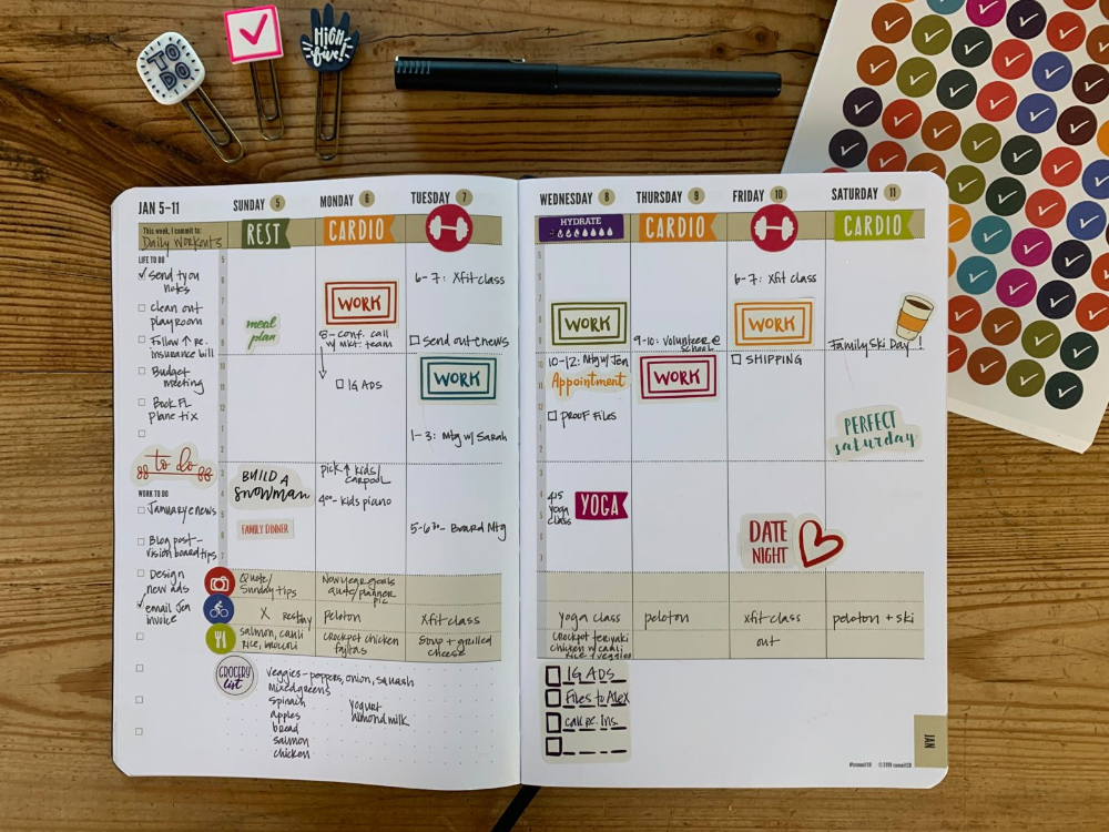 2020 Weekly Day Planner Day Planners Planner Planner Tabs