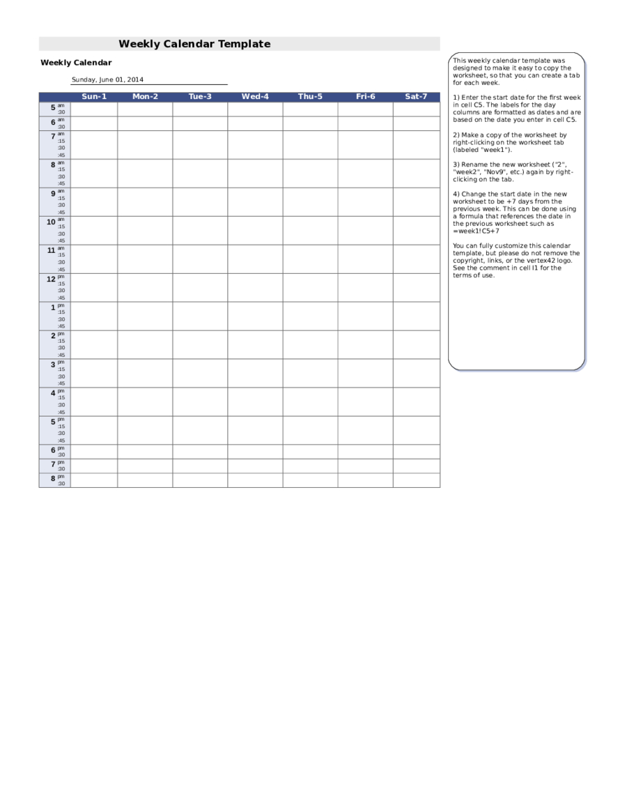 2020 Weekly Planner Template Fillable Printable Pdf