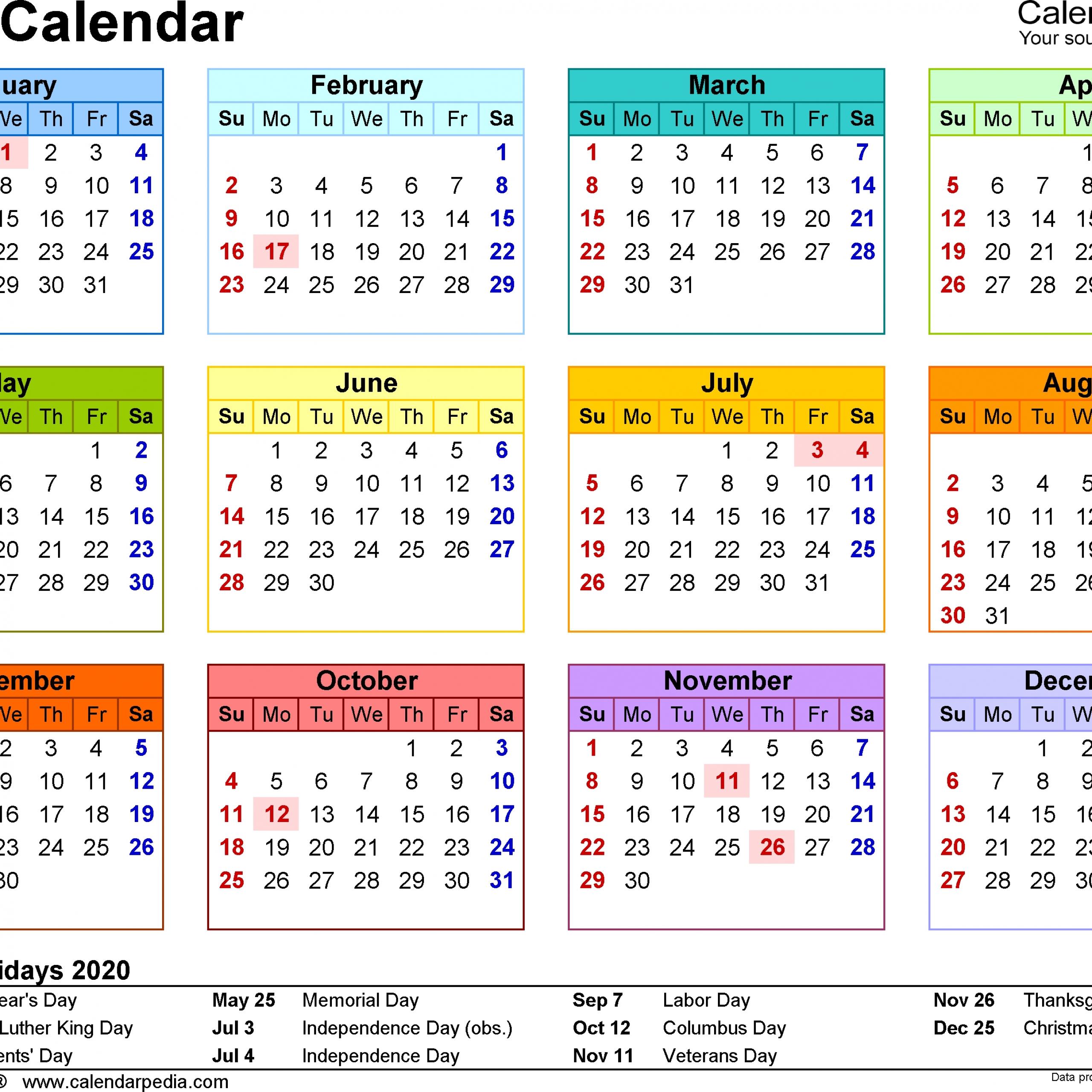 2020calendar Get Free Calendar