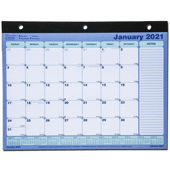 2021 brownline c181721 desk pad calendar 11 x 8 1 2