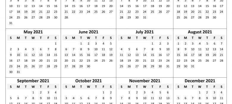 2021 Calendar 2020calendartemplates Part 2
