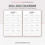 2021 Calendar 2022 Calendar Year At A Glance Filofax A5