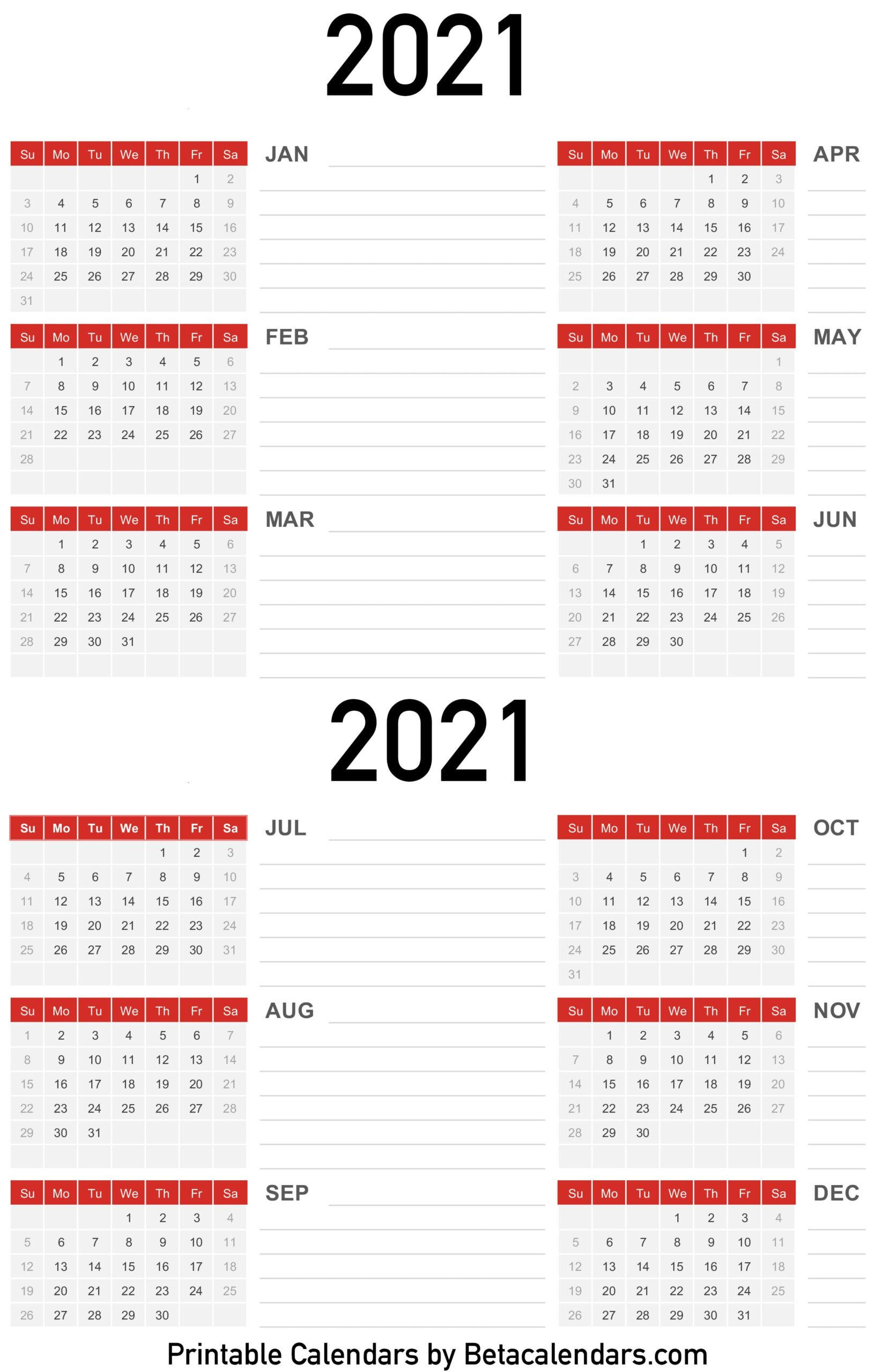 2021 Calendar Beta Calendars 1