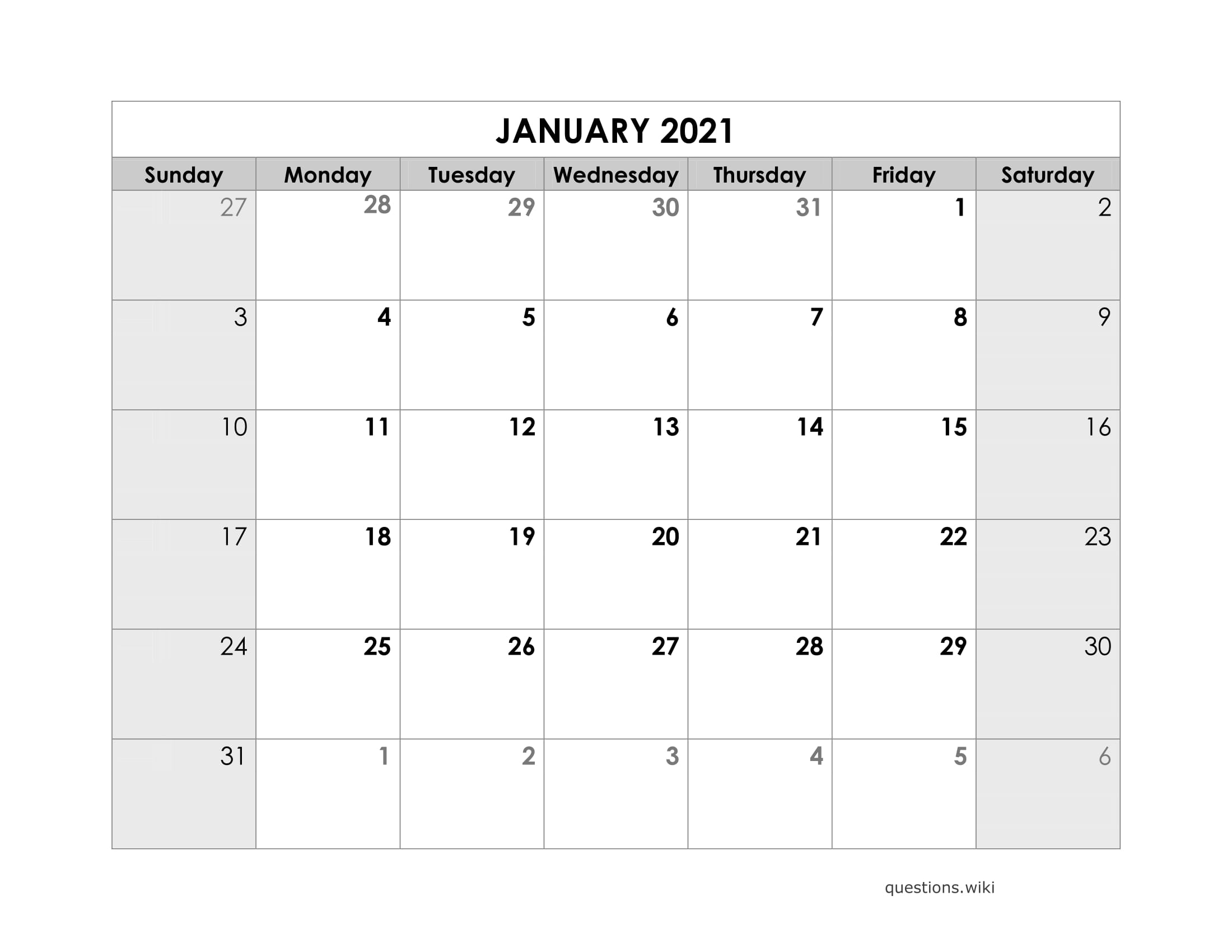 2021 Calendar Online Download Free Printable With Months 3