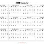 2021 Calendar Pdf 3 Year Calendar Full Page Free 1
