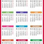 2021 Calendar Printable Free Pdf Colorful Red Orange 1