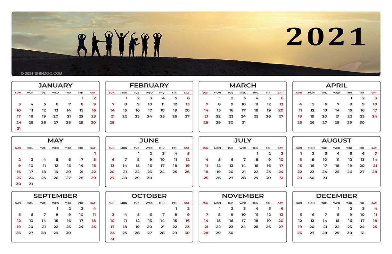 2021 Calendar Printable Template