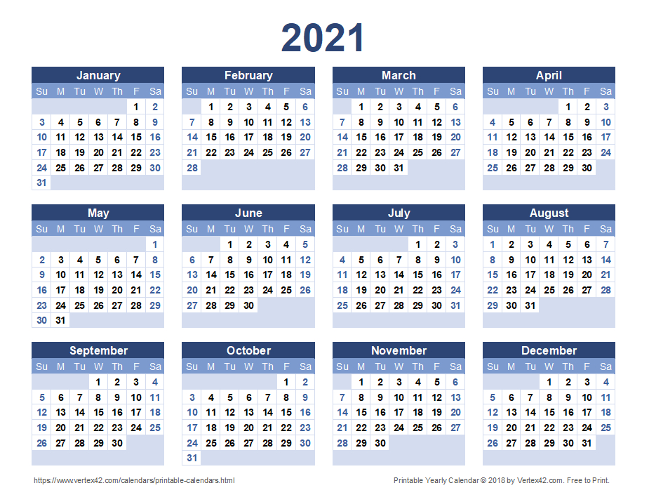 2021 Calendar Templates And Images 1