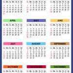 2021 Calendar With Holidays Printable Free Colorful 1