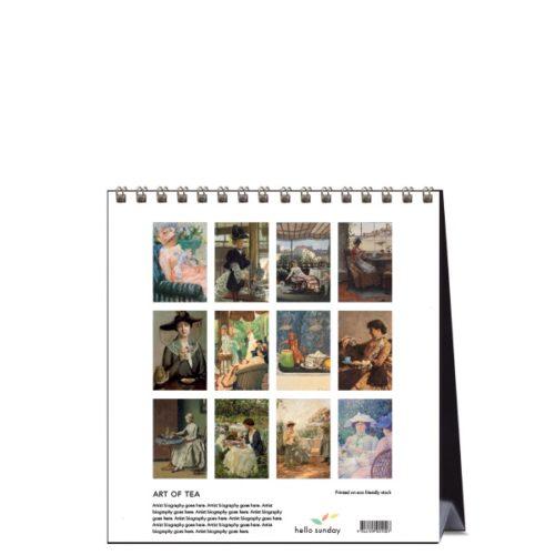 2021 Desk Calendar Art Of Tea Paper Republic