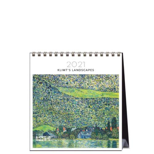 2021 Desk Calendar Klimts Landscapes Paper Republic
