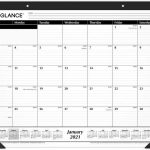 2021 Desk Calendarmonthly Desk Pad 21 3 4 X 17