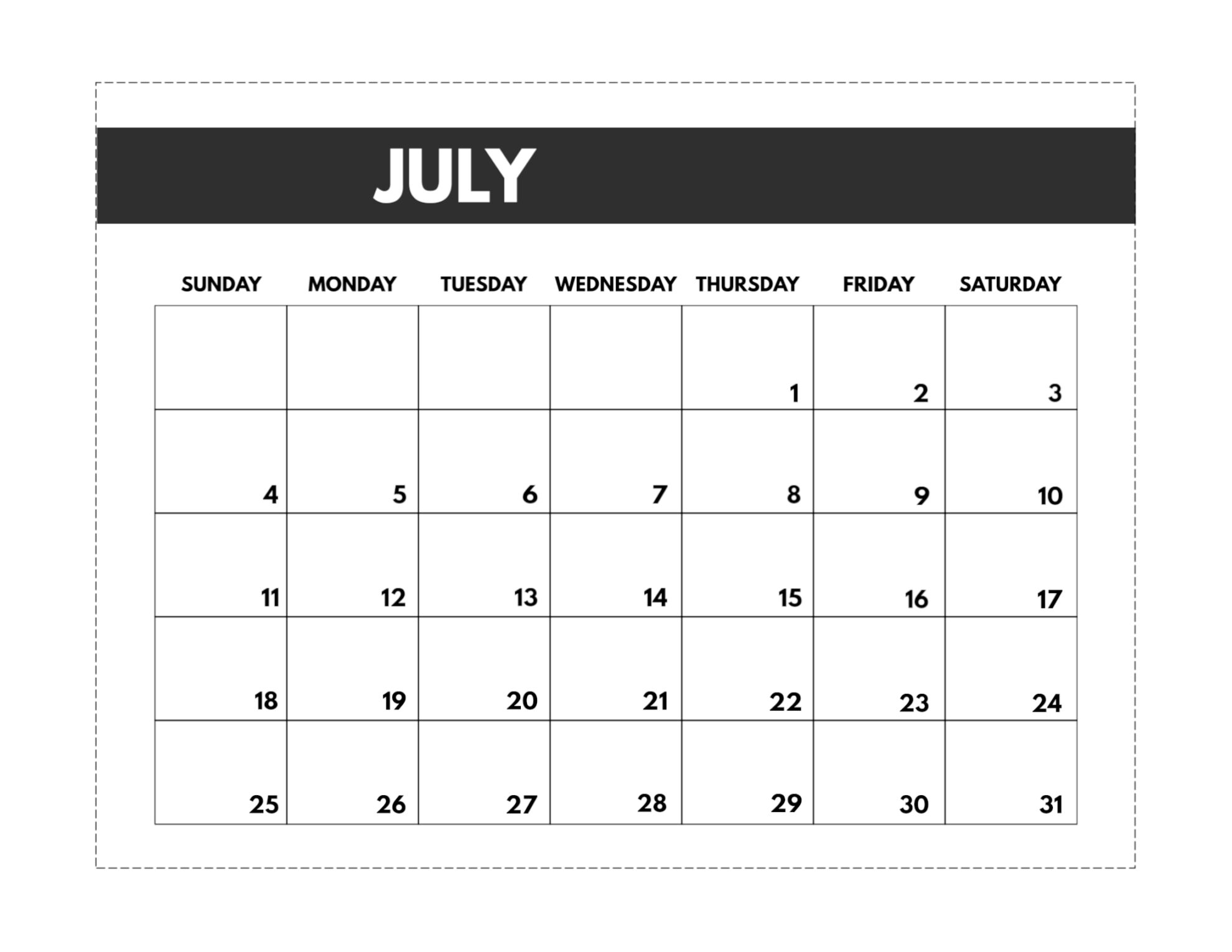 2021 Free Monthly Calendar Templates Paper Trail Design 2